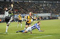 VOETBAL: SC HEERENVEEN: Abe Lenstra Stadion, 17-02-2012, SC-Heerenveen-NAC, Eredivisie, Eindstand 1-0, Bas Dost, Kees Luijckx, Jelle ten Rouwelaar, ©foto: Martin de Jong