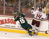 Kevan Miller (Vermont - 15), Brooks Dyroff (BC - 14) - The Boston College Eagles defeated the visiting University of Vermont Catamounts 6-0 on Sunday, November 28, 2010, at Conte Forum in Chestnut Hill, Massachusetts.
