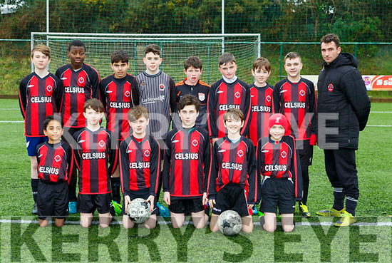 The St Brendans Park  team that played Killorglin in the u13 leaguein Killorglin on Saturday morning