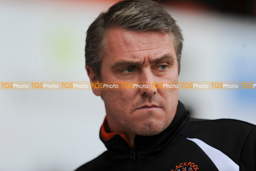 Blackpool manager Lee Clark - Blackpool vs AFC Bournemouth - Sky Bet Championship Football at Bloomfield Road, Blackpool, Lancashire - 20/12/14 - MANDATORY CREDIT: Greig Bertram/TGSPHOTO - Self billing applies where appropriate - contact@tgsphoto.co.uk - NO UNPAID USE