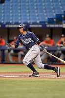 Tampa Bay Rays shortstop Willy Adames (15) during an Instructional League game against the Boston Red Sox on September 25, 2014 at Tropicana Field in St. Petersburg, Florida.  (Mike Janes/Four Seam Images)