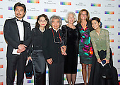 Conductor Seiji Ozawa and guests arrive for the formal Artist's Dinner honoring the recipients of the 38th Annual Kennedy Center Honors hosted by United States Secretary of State John F. Kerry at the U.S. Department of State in Washington, D.C. on Saturday, December 5, 2015. The 2015 honorees are: singer-songwriter Carole King, filmmaker George Lucas, actress and singer Rita Moreno, conductor Seiji Ozawa, and actress and Broadway star Cicely Tyson.<br />