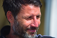 Lincoln City manager Danny Cowley during the pre-match warm-up<br /> <br /> Photographer Andrew Vaughan/CameraSport<br /> <br /> The EFL Sky Bet League Two - Lincoln City v Swindon Town - Saturday August 11th 2018 - Sincil Bank - Lincoln<br /> <br /> World Copyright &copy; 2018 CameraSport. All rights reserved. 43 Linden Ave. Countesthorpe. Leicester. England. LE8 5PG - Tel: +44 (0) 116 277 4147 - admin@camerasport.com - www.camerasport.com