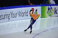 SCHAATSEN: HEERENVEEN: Thialf, Essent ISU World Cup, 02-03-2012, 1500m Division B, Lars Elgersma (NED) rijdt z'n race uit na val, ©foto: Martin de Jong