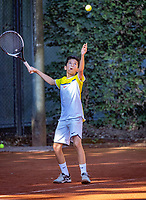 Hilversum, Netherlands, August 6, 2018, National Junior Championships, NJK, Safwan el Hamouti (NED)<br /> Photo: Tennisimages/Henk Koster