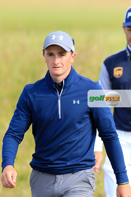 Paul DUNNE (AM)(IRL) walks to the 14th tee during Sunday's Round 3 of the 144th Open Championship, St Andrews Old Course, St Andrews, Fife, Scotland. 19/07/2015.<br /> Picture Eoin Clarke, www.golffile.ie