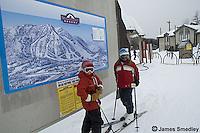 Family downhill ski adventure at Searchmont Resort
