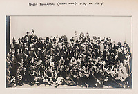 BNPS.co.uk (01202 558833)<br /> Pic: ForumAuctions/BNPS<br /> <br /> Pictured:  The massive cast during the dress rehearsal for 'The Dynasts' in 1920.<br /> <br /> Charming previously unseen photos of a university's historic Thomas Hardy's production have come to light a century later.<br /> <br /> They show the performance of his play 'The Dynasts' by the Oxford Union Dramatic Society in 1920.<br /> <br /> It was the first time the prestigious society, which was founded in 1885, staged a play by a living author.<br /> <br /> The large ensemble cast can be seen in costume performing various scenes from Hardy's epic Napoleonic Wars drama which was published in three parts in 1904, 1905 and 1908.<br /> <br /> Hardy was a distant relative of Captain Thomas Hardy, who served with Admiral Nelson at the Battle of Trafalgar.