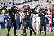 PHILADELPHIA, PA - DEC 8, 2018: Army Black Knights defensive back Mike Reynolds (10) knock down a pass intended for Navy Midshipmen wide receiver Taylor Jackson (89) during game between Army and Navy at Lincoln Financial Field in Philadelphia, PA. Army defeated Navy 17-10 to win the Commander in Chief Cup. (Photo by Phil Peters/Media Images International)