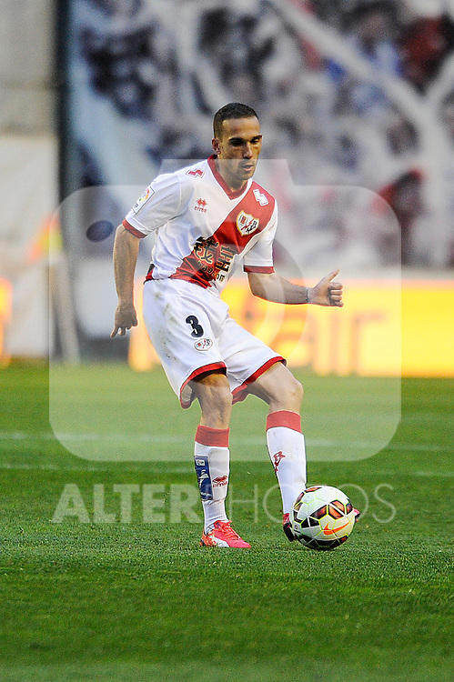 Rayo Vallecano´s Jose Ignacio Garcia during 2014-15 La Liga match between Rayo Vallecano and Malaga CF at Rayo Vallecano stadium in Madrid, Spain. March 21, 2015. (ALTERPHOTOS/Luis Fernandez)