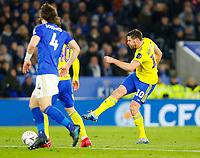 4th March 2020; King Power Stadium, Leicester, Midlands, England; English FA Cup Football, Leicester City versus Birmingham City; Lukas Jutkiewicz of Birmingham City shoots on goal