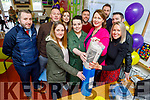 Students from the Class of 1995/96 opening the time capsule at Knockaderry NS Farranfore on Friday. <br /> L to r: Stephen O'Brien, Tadgh O'Keeffe, Aoife O'Sullivan, Aisling O'Connell, Mary Scott, Aine Daly (Principal), Brian Foley, Tim Fitzgerald, Declan Myers and Joanne Casey.