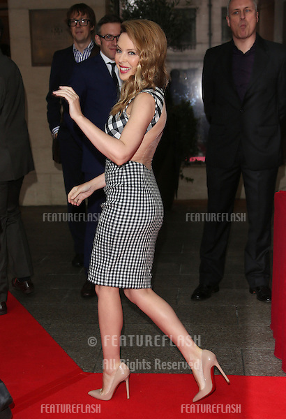 Kylie Minogue arriving for The Q Awards 2012 held at the Grosvenor Hotel, London. 22/10/2012 Picture by: Henry Harris / Featureflash