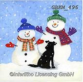 Kate, CHRISTMAS SANTA, SNOWMAN, WEIHNACHTSMÄNNER, SCHNEEMÄNNER, PAPÁ NOEL, MUÑECOS DE NIEVE, paintings+++++Christmas page 2,GBKM496,#x#