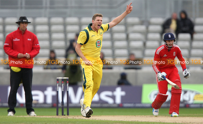 James Faulkner of Australia appeals for a wicket - England vs Australia, Natwest Series One Day International Cricket at Edgbaston - 11/09/13 - MANDATORY CREDIT: Rob Newell/TGSPHOTO - Self billing applies where appropriate - 0845 094 6026 - contact@tgsphoto.co.uk - NO UNPAID USE