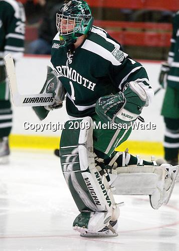 Jody O'Neill (Dartmouth - 1) - The Harvard University Crimson defeated the Dartmouth College Big Green 4-1 (EN) on Monday, January 18, 2010, at Bright Hockey Center in Cambridge, Massachusetts.