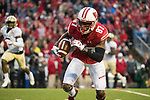 Wisconsin Badgers wide receiver Quintez Cephus (87) gains yardage after a reception during an NCAA College Big Ten Conference football game against the Purdue Boilermakers Saturday, October 14, 2017, in Madison, Wis. The Badgers won 17-9. (Photo by David Stluka)