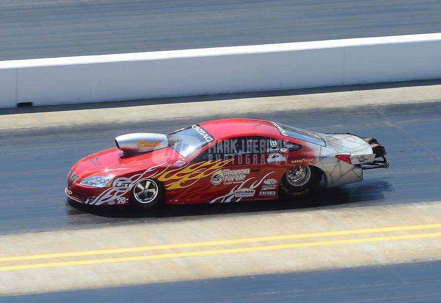 Apr. 14, 2012; Concord, NC, USA: NHRA pro stock driver John Gaydosh during qualifying for the Four Wide Nationals at zMax Dragway. Mandatory Credit: Mark J. Rebilas-