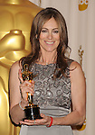 "HOLLYWOOD, CA. - March 07: Director Kathryn Bigelow, winner of Best Director award for ""The Hurt Locker"" poses in the press room at the 82nd Annual Academy Awards held at the Kodak Theatre on March 7, 2010 in Hollywood, California."