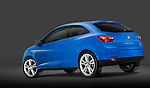 Low angle driver side rear view of a 2009 Seat Ibiza Hatchback