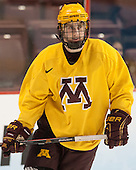 Justin Kloos (MN - 25) - The University of Minnesota Golden Gophers practiced on Wednesday, April 9, 2014, at the Wells Fargo Center in Philadelphia, Pennsylvania during the 2014 Frozen Four.