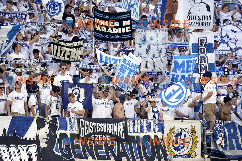 tifosi Lucerna supporters<br /> Reggio Emilia 04-08-2016 Stadio Mapei Football Calcio Europa League 2016/2017 Sassuolo - Lucerna. Foto Daniele Buffa / Image Sport / Insidefoto