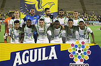 NEIVA- COLOMBIA, 14-10-2019:Formación  del Atlético Bucaramanga ante Atletico Huila durante partido por la fecha 17 de la Liga Águila II 2019 jugado en el estadio Guillermo Plazas Alcid de la ciudad de Neiva. / Team of  Atletico Bucaramanga agaisnt of Atletico Huila during the match for the date 17 of the Liga Aguila II 2019 played at the Guillermo Plazas Alcid Stadium in Neiva  city. Photo: VizzorImage / Sergio Reyes / Contribuidor.