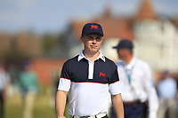 Conor Purcell (GB&I) on the 1st during Day 2 Singles at the Walker Cup, Royal Liverpool Golf CLub, Hoylake, Cheshire, England. 08/09/2019.<br /> Picture Thos Caffrey / Golffile.ie<br /> <br /> All photo usage must carry mandatory copyright credit (© Golffile | Thos Caffrey)