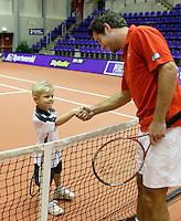 16-12-06,Rotterdam, Tennis Masters 2006,Kids fotoshoot mer Raemon Sluiter