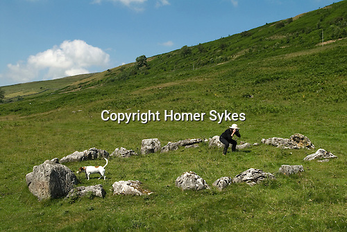 Yockenthwaite Stone Circle hamlet of Craven North Yorkshire. Langstrothdale valley in the Yorkshire Dales National Park. Warfedale.
