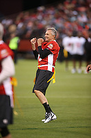 SAN FRANCISCO, CA - JULY 12:  Former San Francisco 49ers great Joe Montana in action during the Legends of Candlestick flag football game at Candlestick Park in San Francisco, California on July 12, 2014. Photo by Brad Mangin