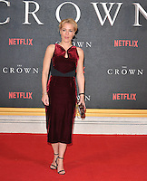 Gillian Anderson at the &quot;The Crown&quot; TV premiere, Odeon Leicester Square cinema, Leicester Square, London, England, UK, on Tuesday 01 November 2016. <br /> CAP/CAN<br /> &copy;CAN/Capital Pictures /MediaPunch ***NORTH AND SOUTH AMERICAS ONLY***