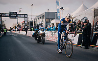 Philippe Gilbert (BEL/Quick Step floors) rolling in as 2nd<br /> <br /> 50th GP Samyn 2018<br /> Quaregnon &gt; Dour: 200km (BELGIUM)