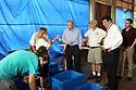 Bob Dudley, CEO of BP, tours the Audubon Nature Institute's turtle rehabilitation center in New Orleans, Wed., June 23, 2010.<br /> <br /> (AP Photo/Cheryl Gerber)
