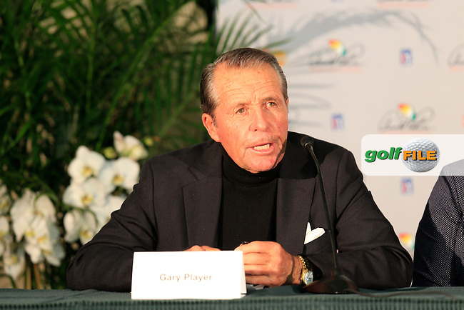 World Hall of Fames press conference Gary Player aduring the final round at the Arnold Palmer Invitational presented by MasterCard , Bay Hill , Orlando, Florida,USA.<br /> Picture: Fran Caffrey www.golffile.ie