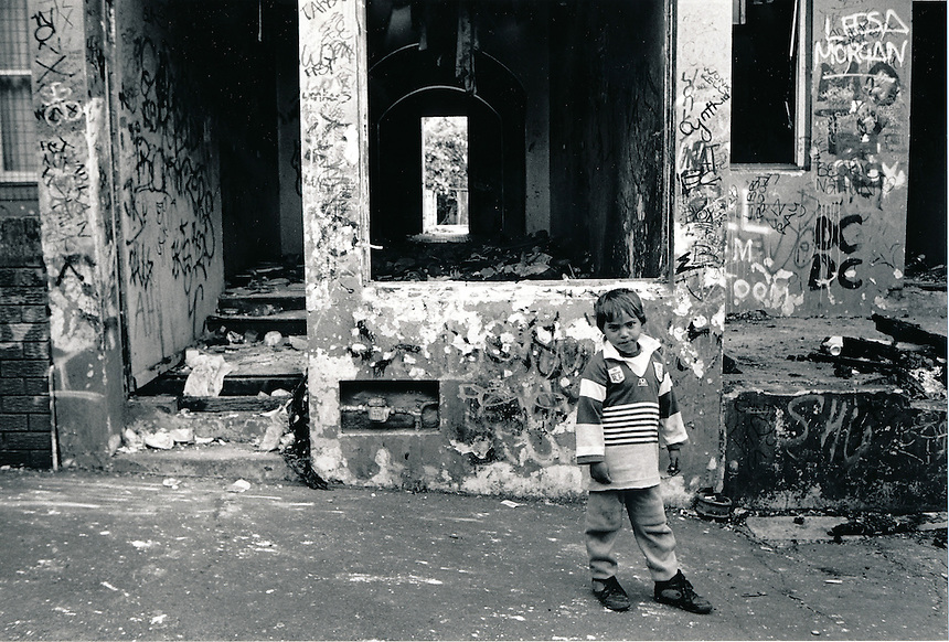 """The Block"", Eveleigh Street Redfern Inner City Sydney Australia. This area was under the control of the Aboriginal Housing Company following purchases made possible with a grant from the Whitlam Government.A group of the original squatters got together to from the company in 1973..PIC JAYNE RUSSELL..Undated Image take pre 1988."
