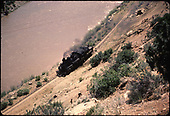 D&amp;RGW #478 along San Juan River in Gato area.<br /> D&amp;RGW  Gato area, CO