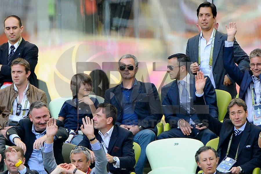 GDANSK, POLONIA, 10 JUNHO 2012 - EURO 2012 -  ESPANHA X ITALIA - <br /> O treinador do Real Madrid Jose Mourinho momentos antes da partida contra a Espanha em jogo valido pela primeira rodada do Grupo C, na Arena de Gdansk na Polonia neste domingo, 10. (FOTO: DANIELE BUFFA / PIXATHLON / BRAZIL PHOTO PRESS.