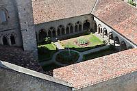Europe/France/Midi-Pyrénées/32/Gers/La Romieu: Le Cloitre de la collégiale - Patrimoine mondial UNESCO