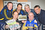 Cordal GAA members who have organised a reunion dance for the 1986 County Junior Champions in Cordal Community Centre this Saturday front l-r: Tommy O'Connor, Tom Wren. back row: Sean O'Leary, Johnny O'Callaghan, Maurice Costello and Mike Flynn