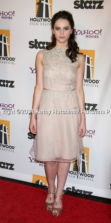 LOS ANGELES - OCT 24:  Felicity Jones arriving at the 15th Annual Hollywood Film Awards Gala at Beverly Hilton Hotel on October 24, 2011 in Beverly Hllls, CA