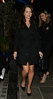 Lottie Moss and her half-sister Kate Moss are pictured leaving La Famiglia restaurant in London's trendy Chelsea after celebrating Lottie's 21st birthday.<br /> <br /> JANUARY 9th 2019<br /> <br /> Credit: Matrix/MediaPunch ***FOR USA ONLY***<br /> <br /> REF: LTN 19100