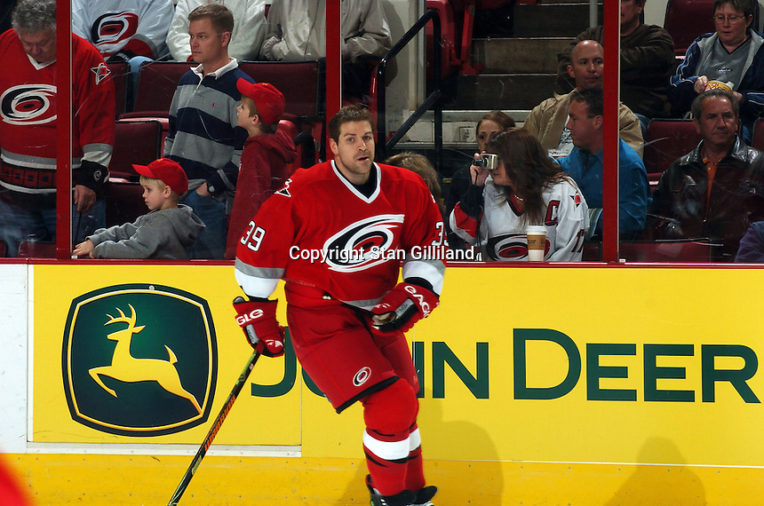 Carolina Hurricanes' Doug Weight skates during warmups prior to a game with the Florida Panthers Friday, March 3, 2006 at the RBC Center in Raleigh, NC. Carolina won 5-2.