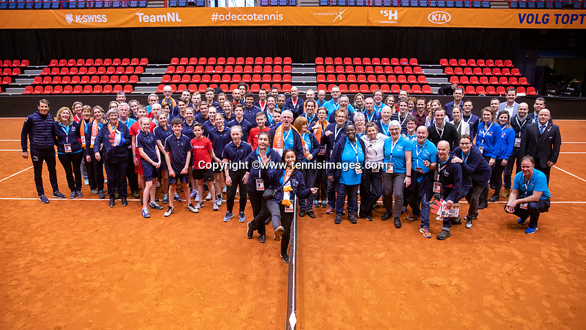 Den Bosch, The Netherlands, Februari 10, 2019,  Maaspoort , FedCup  Netherlands - Canada, Volunteers<br /> Photo: Tennisimages/Henk Koster