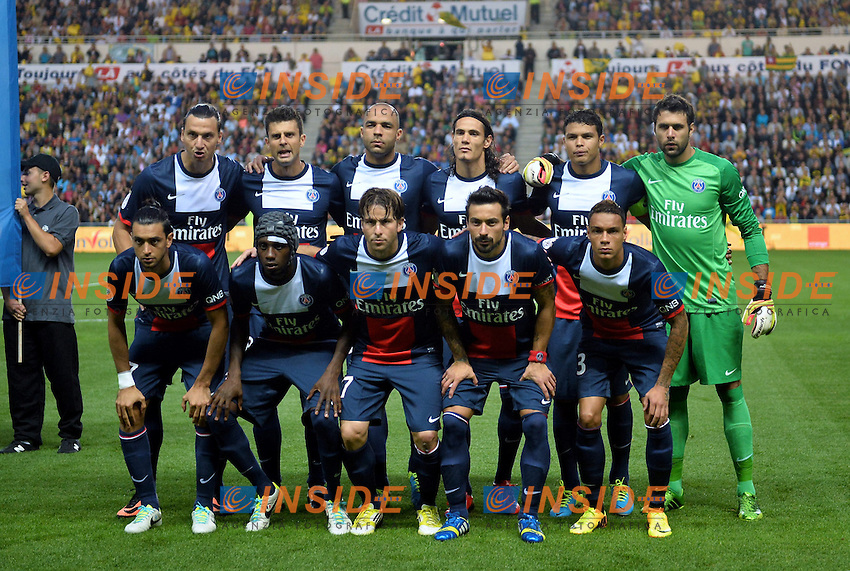 equipe du PSG <br /> Football Calcio 2013/2014<br /> Ligue 1 Francia<br /> Foto Panoramic / Insidefoto <br /> ITALY ONLY