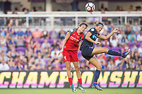 Orlando, FL - Saturday October 14, 2017: Emily Menges, Ashley Hatch during the NWSL Championship match between the North Carolina Courage and the Portland Thorns FC at Orlando City Stadium.