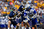 FOXBORO, MA - MAY 28: Brendan P. Smith #29 of the Limestone Saints during the Division II Men's Lacrosse Championship held at Gillette Stadium on May 28, 2017 in Foxboro, Massachusetts. (Photo by Larry French/NCAA Photos via Getty Images)