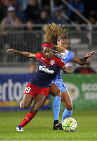 Boyds, MD - Friday Sept. 30, 2016: Crystal Dunn, Casey Short during a National Women's Soccer League (NWSL) semi-finals match between the Washington Spirit and the Chicago Red Stars at Maureen Hendricks Field, Maryland SoccerPlex. The Washington Spirit won 2-1 in overtime.
