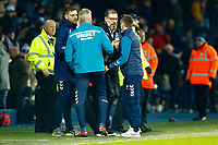 29th December 2019; The Hawthorns, West Bromwich, West Midlands, England; English Championship Football, West Bromwich Albion versus Middlesbrough; West Bromwich Albion Head Coach Slaven Bilic congratulates Middlesbrough's coaching team after the final whistle - Strictly Editorial Use Only. No use with unauthorized audio, video, data, fixture lists, club/league logos or 'live' services. Online in-match use limited to 120 images, no video emulation. No use in betting, games or single club/league/player publications