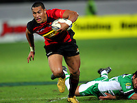 Canterbury's Robbie Fruean heads for the tryline. ITM Cup rugby - Manawatu Turbos v Canterbury at FMG Stadium, Palmerston North, New Zealand on Friday, 5 August 2010. Photo: Dave Lintott / lintottphoto.co.nz